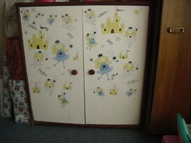 Wooden Toy Cupboard with 2 shelfs