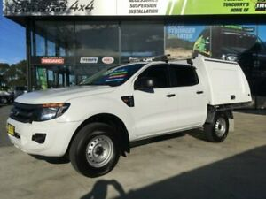 2015 Ford Ranger PX XL 3.2 (4x4) White 6 Speed Automatic Dual Cab Utility Tuncurry Great Lakes Area Preview