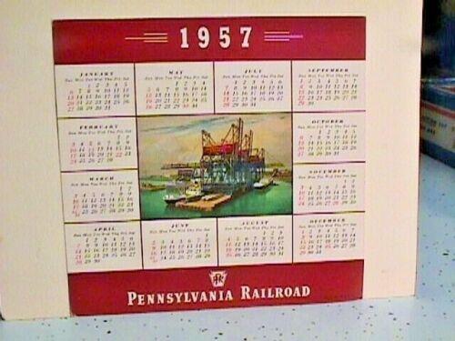 1957 PRR P.R.R. PENNSYLVANIA RAILROAD CALENDAR