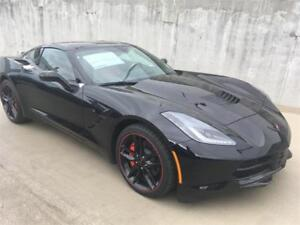 2019 Chevrolet Corvette Stingray Coupe Black 7 speed manual NEW