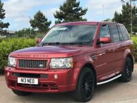 LAND ROVER RANGE ROVER SPORT 2.7 TDV6 SPORT HSE 5d AUTO 188 BHP (red) 2008