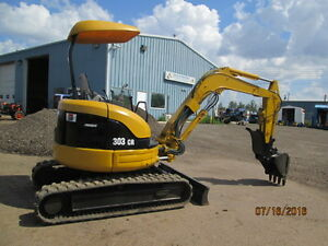 CATERPILLAR  excavator  303 CR  HYD THUMB , Q/C BK , O SWING