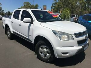 2012 Holden Colorado RG MY13 LX Crew Cab White 6 Speed Sports Automatic Utility East Bunbury Bunbury Area Preview