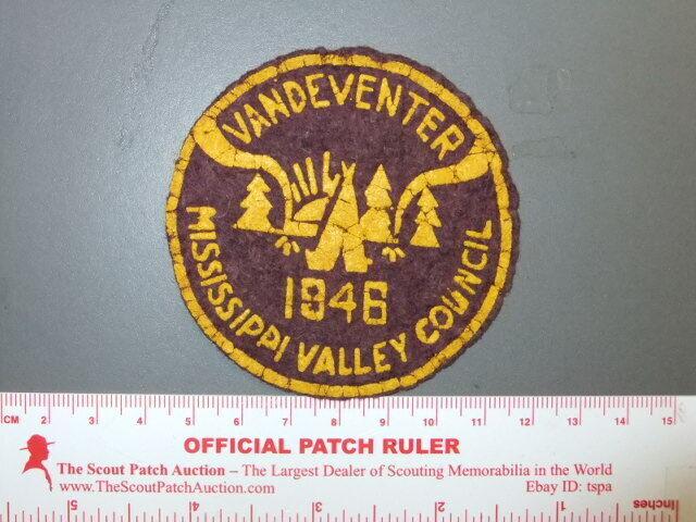 Boy Scout Camp Vandeventer 1946 felt IL 9989X