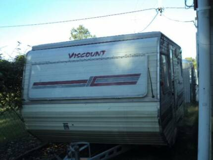 viscount 14ft caravan popup roof tidy unreg must sell $1700 Deception Bay Caboolture Area Preview