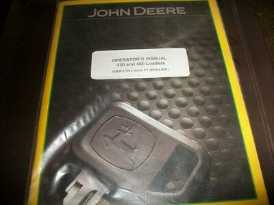Original John Deere Dealer 430460 Loader Tractor Operators Manualnew