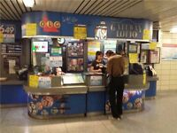 Lottery Kiosk in Subway