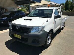 2012 Toyota Hilux KUN16R MY12 Workmate White 5 Speed Manual Cab Chassis Young Young Area Preview