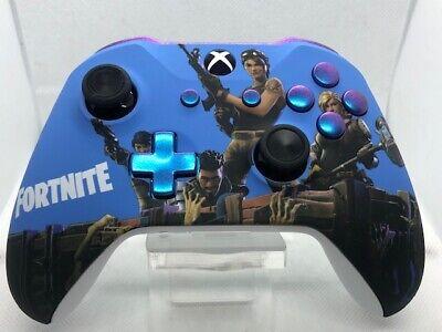 Brand New Xbox One s Custom Fortnite Microsoft Official Controller *PURPLE LED*