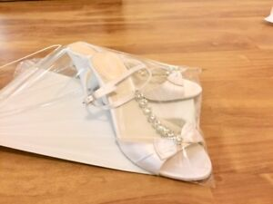 """Size 6.5 Wedding Wedges """"Pink"""" brand purchased from Nordstrom"""