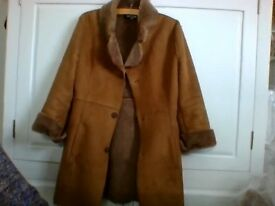 Suede look Ladies Coat