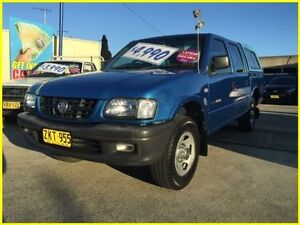 2002 Holden Rodeo TF MY02 LX Crew Cab Blue 5 Speed Manual Utility Kogarah Rockdale Area Preview