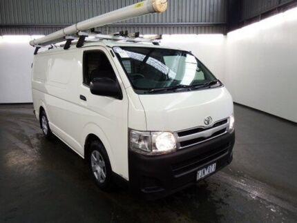 2011 Toyota Hiace KDH201R MY11 Upgrade LWB White 5 Speed Manual Van Albion Brimbank Area Preview