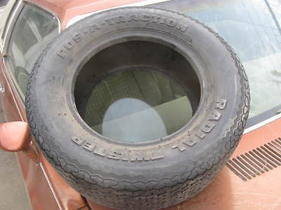 NOS POS-A-TRACTION Radial Twister CR50-13 vintage tire, raised white letters