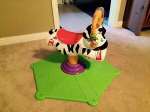 Fisher Price Bounce and Spin Zebra Toy
