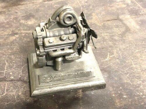 Detroit Diesel Allison 8V71T Diesel Engine Vintage Antique Desk Paper Weight
