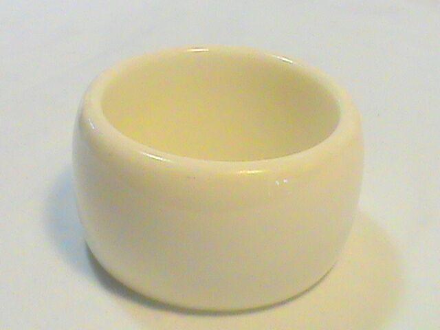 Wide Acrylic Resin White Bangle Bracelet