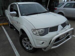 2010 Mitsubishi Triton MN MY10 GLX-R Double Cab White 5 Speed Sports Automatic Utility Noosaville Noosa Area Preview