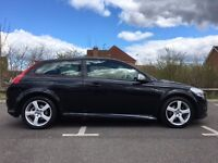 Volvo C30 R-Design S with special edition black/white leather sports seats, cruise control, FSH