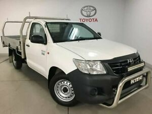 2014 Toyota Hilux TGN16R MY14 Workmate 4x2 White 5 Speed Manual Cab Chassis West Ryde Ryde Area Preview