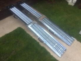 Heavy Duty NEW Folding Ramps Holds 400kgs Excellent Grip Only £100 Was £350