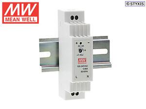 Meanwell DR-15-12  LED Trafo 12V / 15Watt / 1,25A  für Hutschiene / DIN Schiene
