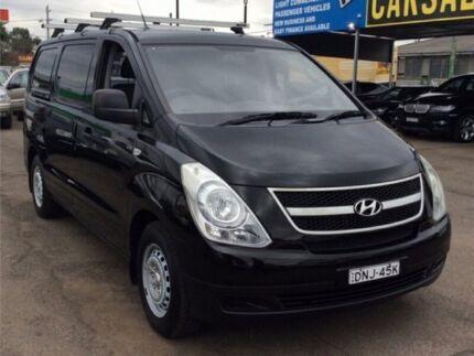 2009 Hyundai iLOAD TQ-V Van 5dr Man 5sp 1076kg 2.5DT Black Manual Van