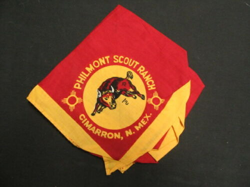 Philmont Scout Ranch Red Background Older Neckerchief Style   eb23
