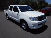 2008 Toyota Hilux GGN15R 08 Upgrade SR White 5 Speed Automatic Dual Cab Pickup Yagoona Bankstown Area Preview