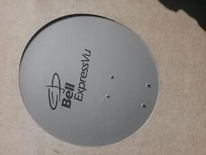 A brand new satellite receiver antenna with disk and bracket