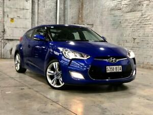 2014 Hyundai Veloster FS2 Coupe D-CT Blue 6 Speed Sports Automatic Dual Clutch Hatchback Mile End South West Torrens Area Preview