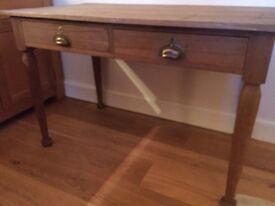 Vintage Solid wood 2 drawer Teachers Desk/Table