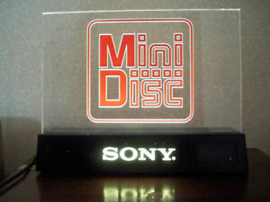 Collectible Sony Mini Disc Promo Sign - Audio - Great Gift