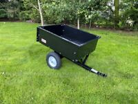 Brand New Quad or Tractor Lawnmower Tipping Trailer ( ride on car van garden trailer logs turf )