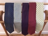 Five Men's Ties For Sale - Excellent Quality and Condition