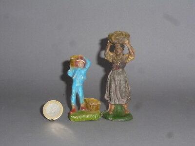 Alte Bauern Figuren für Krippe & Bauernhof aus Masse 10cm Serie Chialu Nardi ? ()