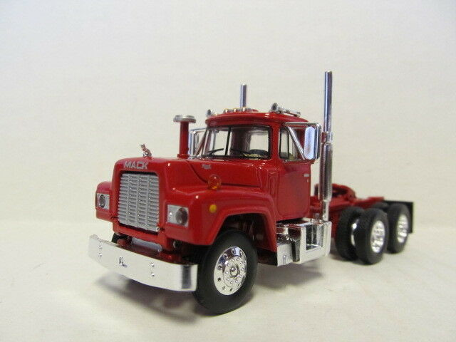 1ST GEAR 1/64 SCALE  R MODEL MACK DAY CAB , RED & RED FRAME  SAME SCALE AS DCP