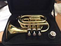 John Packer JP159 Pocket Trumpet Bb Lacquer