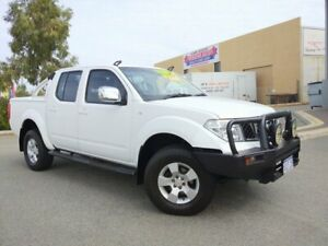 2012 Nissan Navara D40 MY12 ST (4x4) White 6 Speed Manual Dual Cab Pick-up Malaga Swan Area Preview