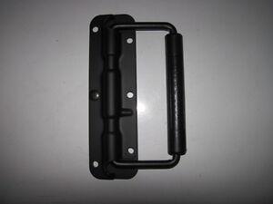 Black Spring Loaded Drop Handle Rubber Handle - Speaker Cabinet, Flight Cases