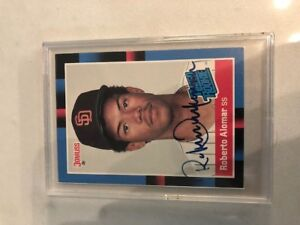 Roberto Alomar Signed Rookie Card
