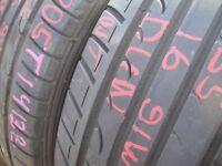 205/55/16 Dunlop SP Sport Fast Response x2 A Pair, 5.4mm (454 Barking Rd, Plaistow, E13 8HJ) Used