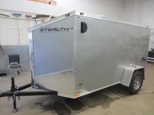 """5 X 10 STEALTH CARGO, WITH 24"""" SLANT WEDGE FRONT, RAMP"""