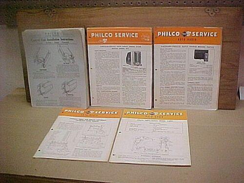Philco Auto Radio Installation Instruction Manual/Flyers - 1936 - 1949