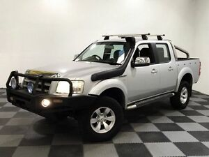 2008 Ford Ranger PJ XLT Crew Cab Silver 5 Speed Manual Utility Edgewater Joondalup Area Preview