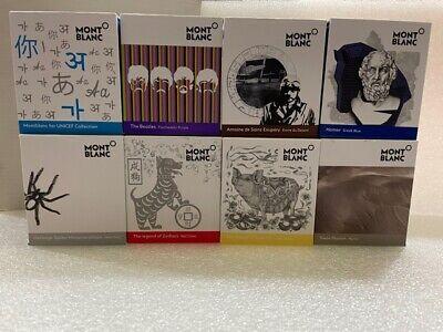 ANY 4 BOTTLE of MONTBLANC INKS -Exupery, Homer, Swan, Spider, Beatles, Dog, Pig, Unicef