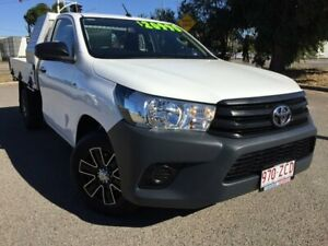 2017 Toyota Hilux TGN121R Workmate 4x2 White 6 Speed Sports Automatic Cab Chassis Townsville Townsville City Preview