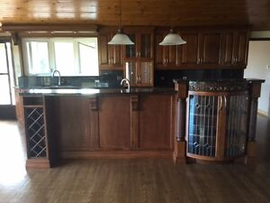 Gorgeous solid wood kitchen and granite