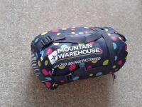 Sleeping bag (Mountain Warehouse) + hicking backpack