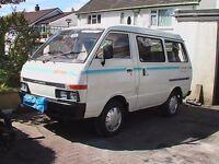 Nissan Vannette, 2l diesel campervan.
